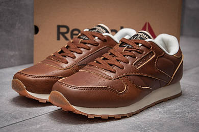 Кроссовки мужские Reebok Classic, коричневые (13211),  [  44 45  ]