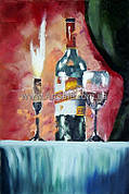 "Купить натюрморт ""Бутылка вина"""