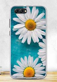 Чехол силиконовый для Huawei honor V10 с картинкой ромашки