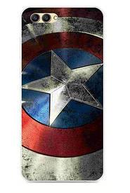 Чехол силиконовый для Huawei honor V10 с картинкой Щит Капитана Америка