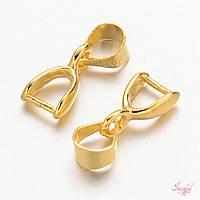 Застежка держатель для рулона 13х4мм золото для рукоделия, фото 1
