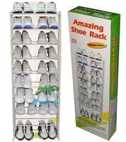 🔥✅ Органайзер для обуви полка для обуви amazing shoe rack металлическая 30 пар