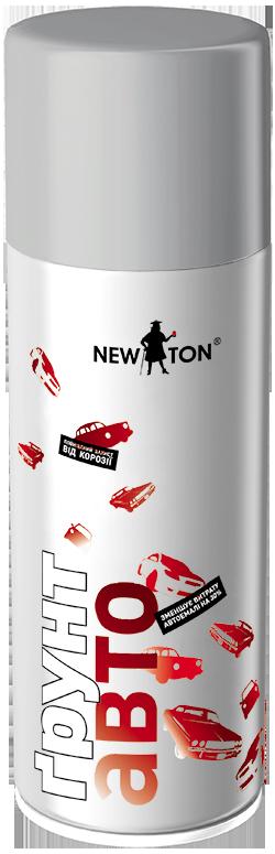 Грунт Авто аэрозольный серый NewTon 400мл