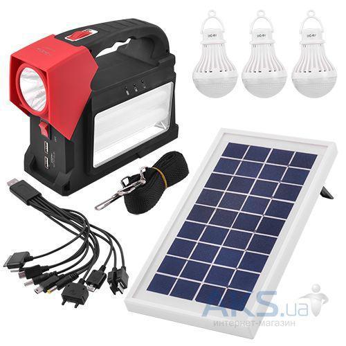 🔥✅ Кемпинговый светодиодный фонарь - Power Bank Yajia YJ-1960T с солнечной панелью в комплекте
