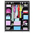 🔥✅ Многофункциональный шкаф-органайзер для вещей 130*45*170 см HCX-153NT, фото 3