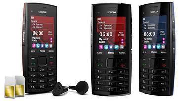 Телефон Nokia X2-02 Duos Black 2 sim Качественная копия Сверх громкий динамик металлический корпус