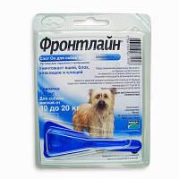 FRONTLINE Spot-On M - Фронтлайн Спот-Он- капли на холку от блох, клещей и насекомых для собак 10-20кг (1,74мл)