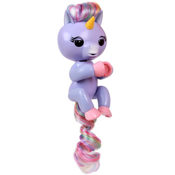 Интерактивный единорог Fingerlings  - выполняет действия, издает звуки Пурпурный (Алика) (Fingerlings единорог/purple)
