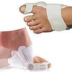 Ортопедический вальгусный бандаж ночной для стопы, корректор большого пальца стопы 2 шт