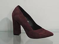 Элегантные женские замшевые туфли на каблуке, фото 1