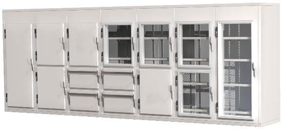 Холодильные камеры Polybox многосекционные.