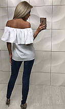 Летняя кофта женская с приспущенными плечами /разные цвета, 42-46, ft-258/, фото 3