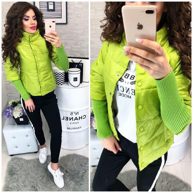 Куртка Давяз, модель 205, цвет - яблоко  салатовый