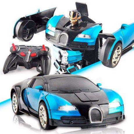 Авто-Трансформер Робот Bugatti Veyron, радиоуправляемая игрушка, машинка на пульте, АКБ