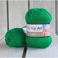 YarnArt Baby -  338 зеленый