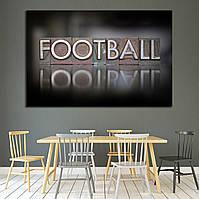 2127 The word Football written in vintage letterpress type