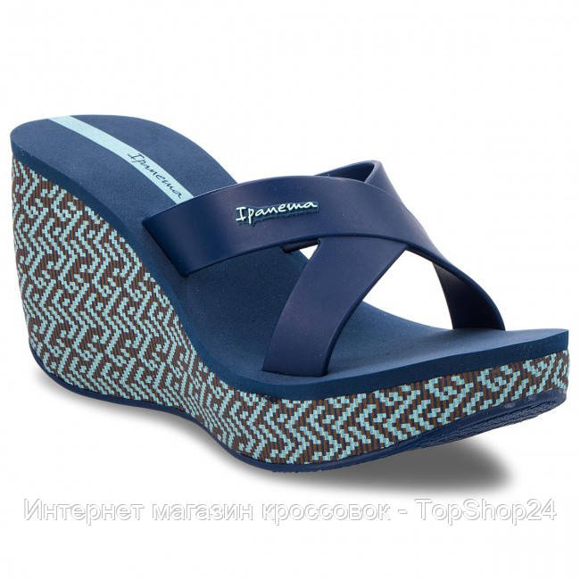 82288-21119 Шлепанцы женские на платформе Ipanema Lipstick Straps LV Fem Blue