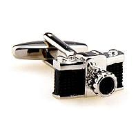 Запонки Черный фотоаппарат для фотографов и тех, кто любит фотографировать , фото 1