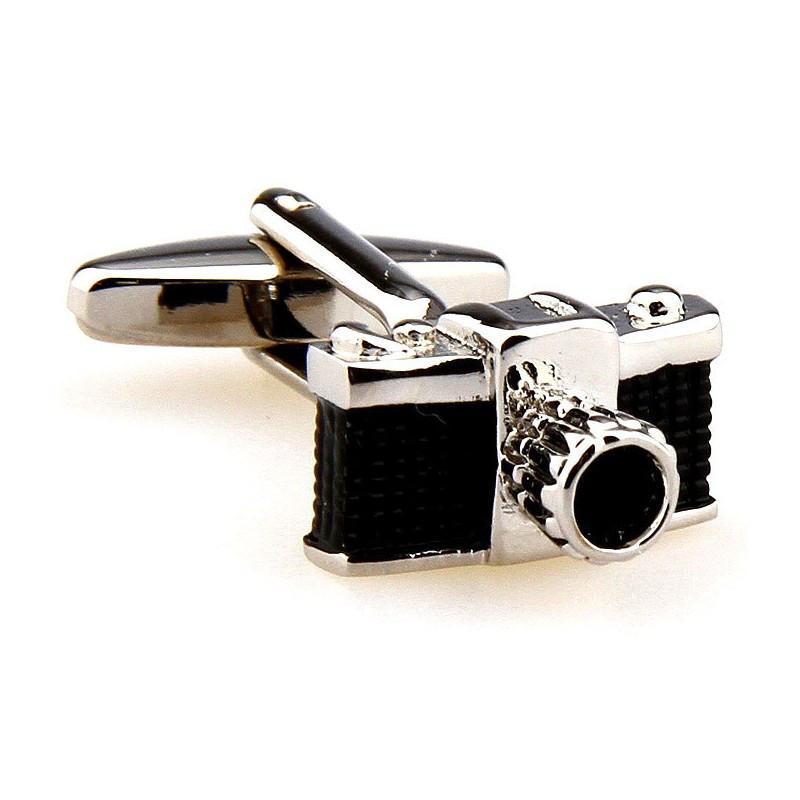 Запонки Черный фотоаппарат для фотографов и тех, кто любит фотографировать