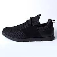 Кроссовки черные / замш