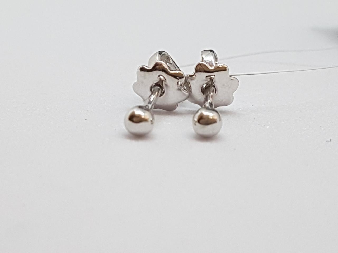 Серебряные пуссеты. Артикул 902-00909