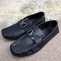 Мокасины мужские Louis Vuitton Moccasins Raspail Black (реплика) 0b80ef54ee7