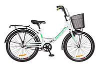 """Складной велосипед 24"""" Formula SMART с корзиной 2018 (бело-зелен.)"""
