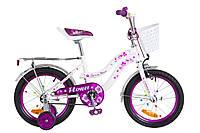 """Детский велосипед 16"""" Formula FLOWER 2018 (бело-фиолетовый)"""