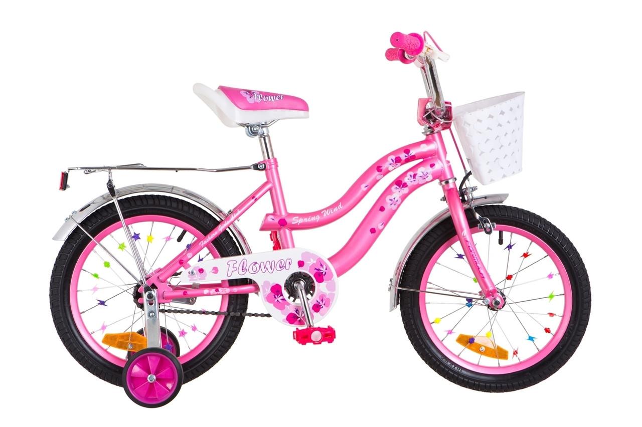 """Детский велосипед 16"""" Formula FLOWER 2018 (розовый)"""