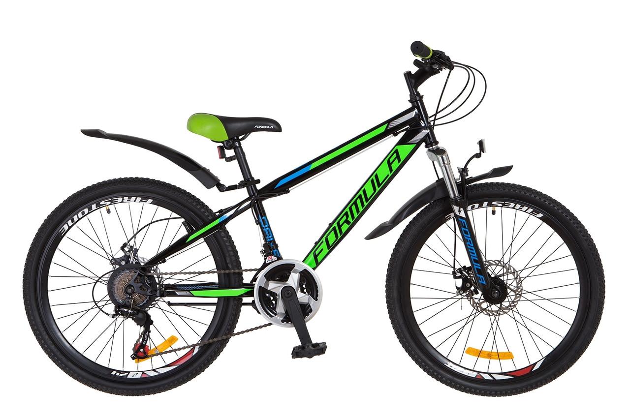 """Горный велосипед 24"""" Formula DAKAR 2018 (черно-зелен.)"""