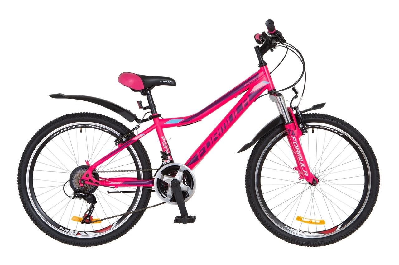 """Горный велосипед 24"""" Formula FOREST 2018 (розово-фиолетовый (м))"""