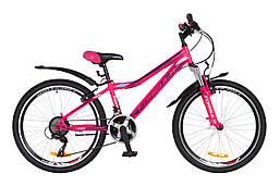 """Горный подростковый велосипед 24"""" Formula FOREST AM 14G Vbr St с крылом Pl 2018 (розово-фиолетовый (м))"""