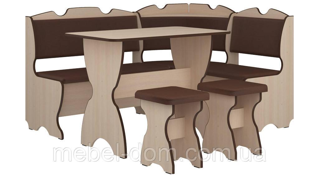 Кухонный уголок Комфорт с простым столом