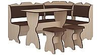 Кухонный уголок Комфорт с простым столом, без стола и табуретов