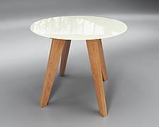Обеденный стеклянный стол Sentenzo Леонардо круг