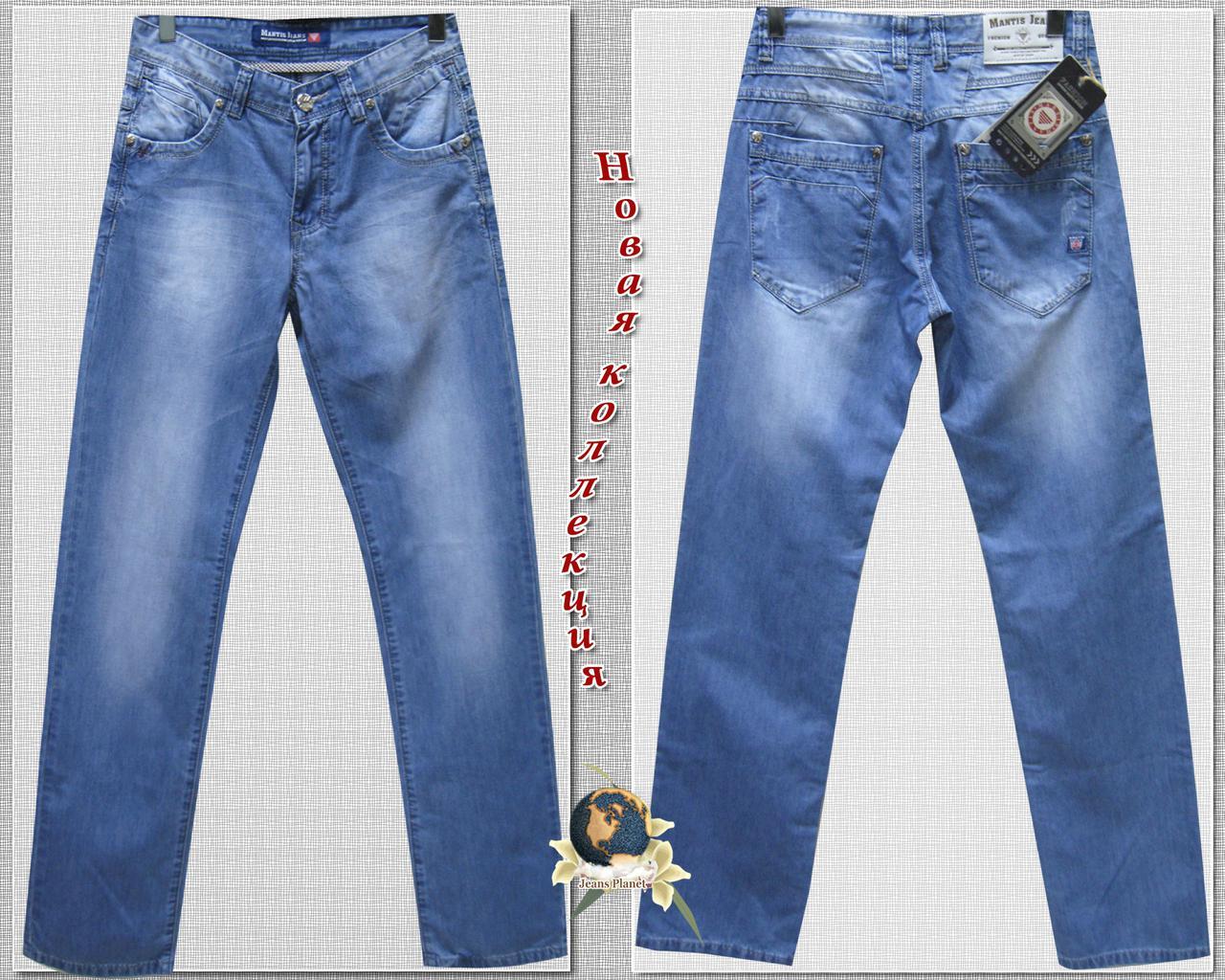 Джинсы мужские классические Mantis Jeans голубого цвета