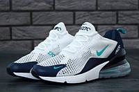 Мужские кроссовки Nike Air Max 270 Royal Blue White Grey , фото 1