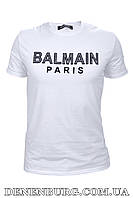 Футболка мужская BALMAIN B-022 белая, фото 1