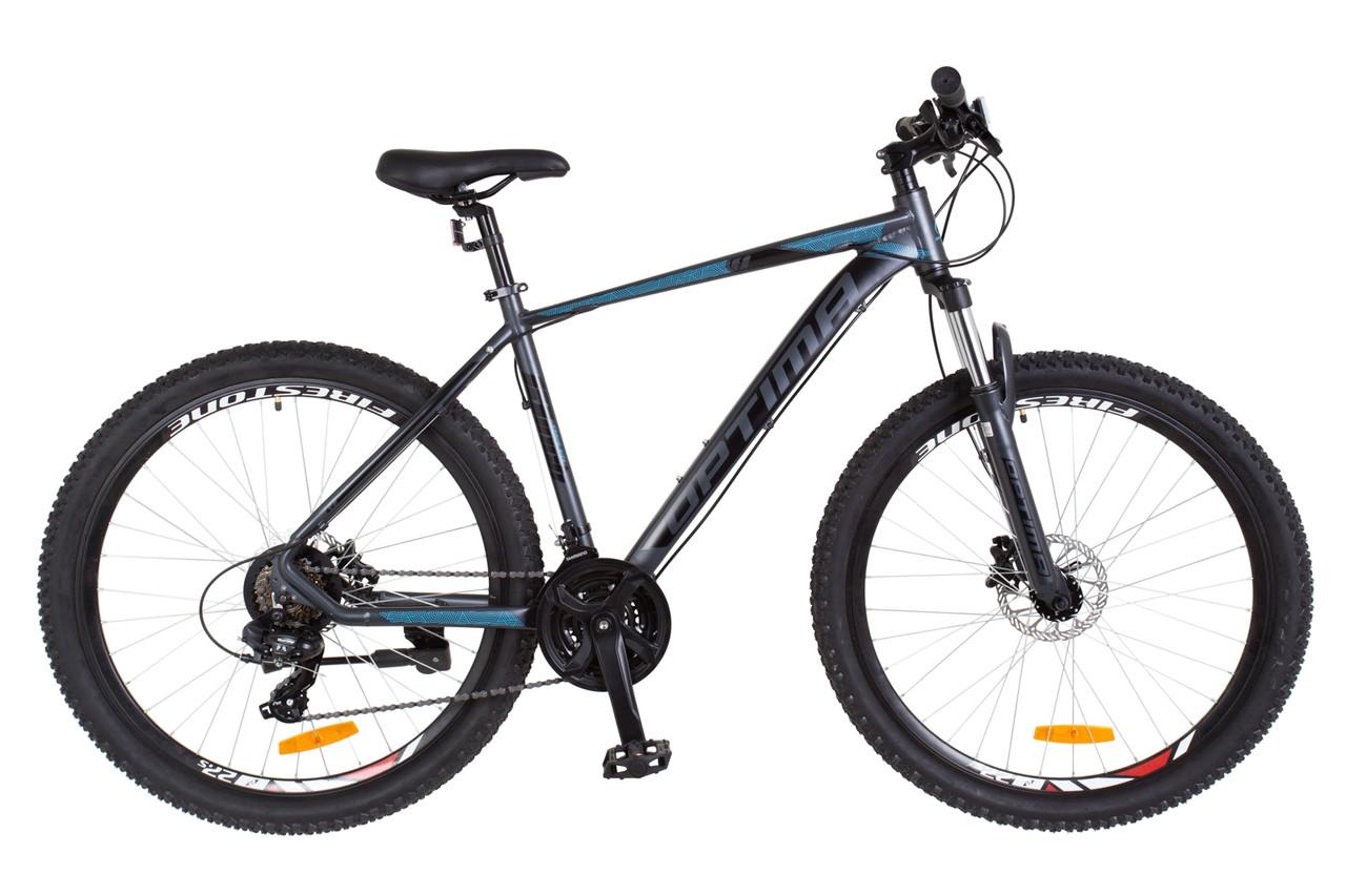 """Горный велосипед 27.5"""" Optimabikes F-1 HDD 2018 (черно-синий (м))"""