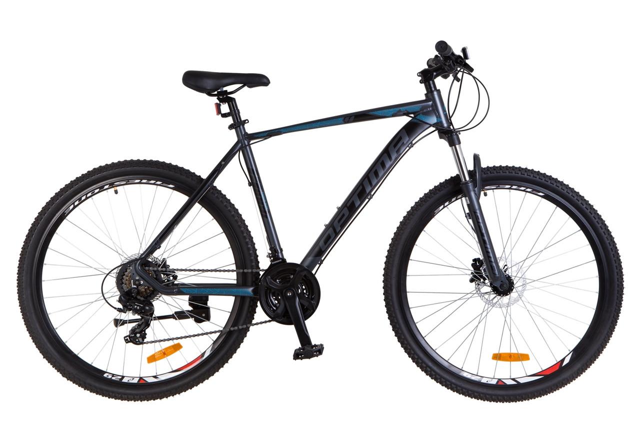 """Горный велосипед 29"""" Optimabikes F-1 HDD 2018 (черно-синий (м))"""