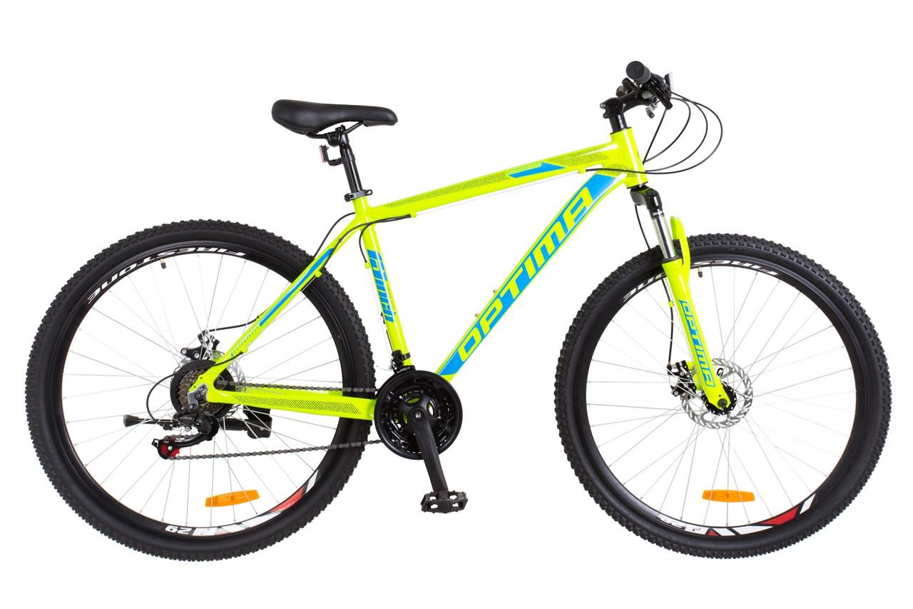 "Горный велосипед  29"" Optimabikes MOTION DD 2018 (салатно-синий)"