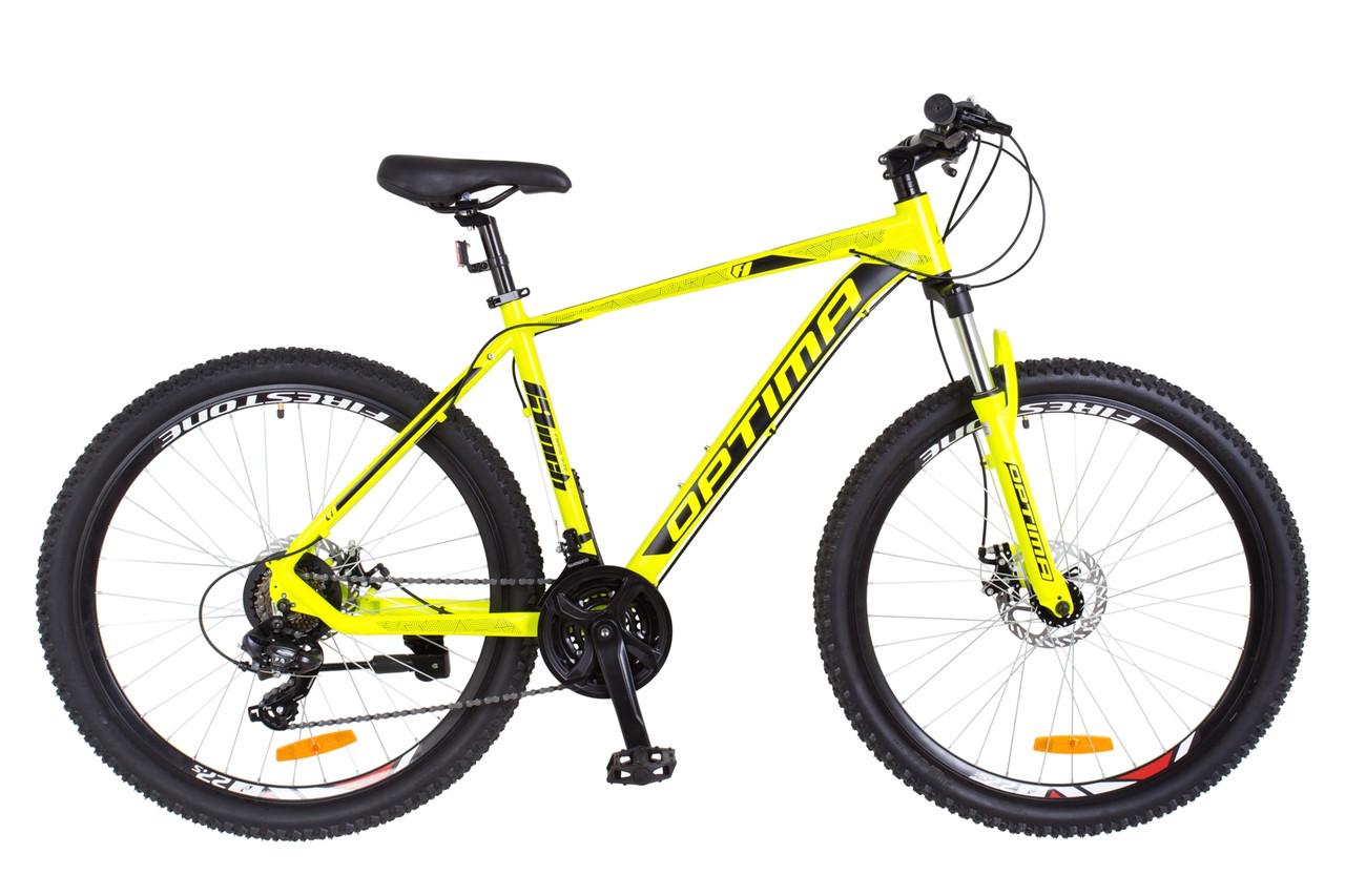 """Горный велосипед27.5"""" Optimabikes F-1 DD 2018 (черно-оранжевый (м))"""