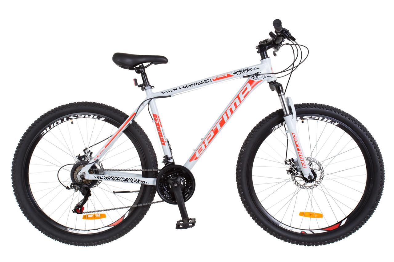 """Горный велосипед 27.5"""" Optimabikes GRAVITY 2018 (серый с оранжевым (м))"""