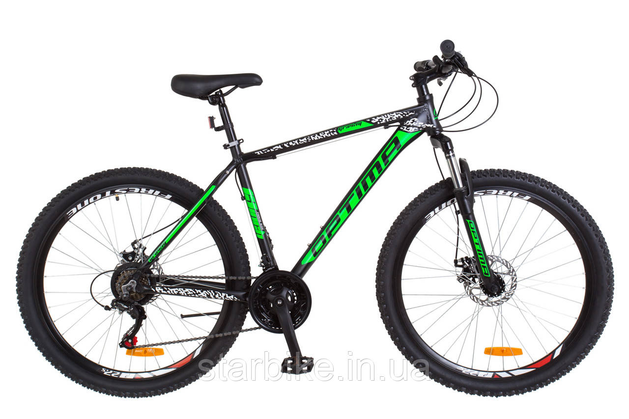 """Горный велосипед 27.5"""" Optimabikes GRAVITY 2018 (черно-зеленый (м))"""