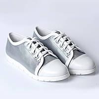 Спортивные туфли серебро