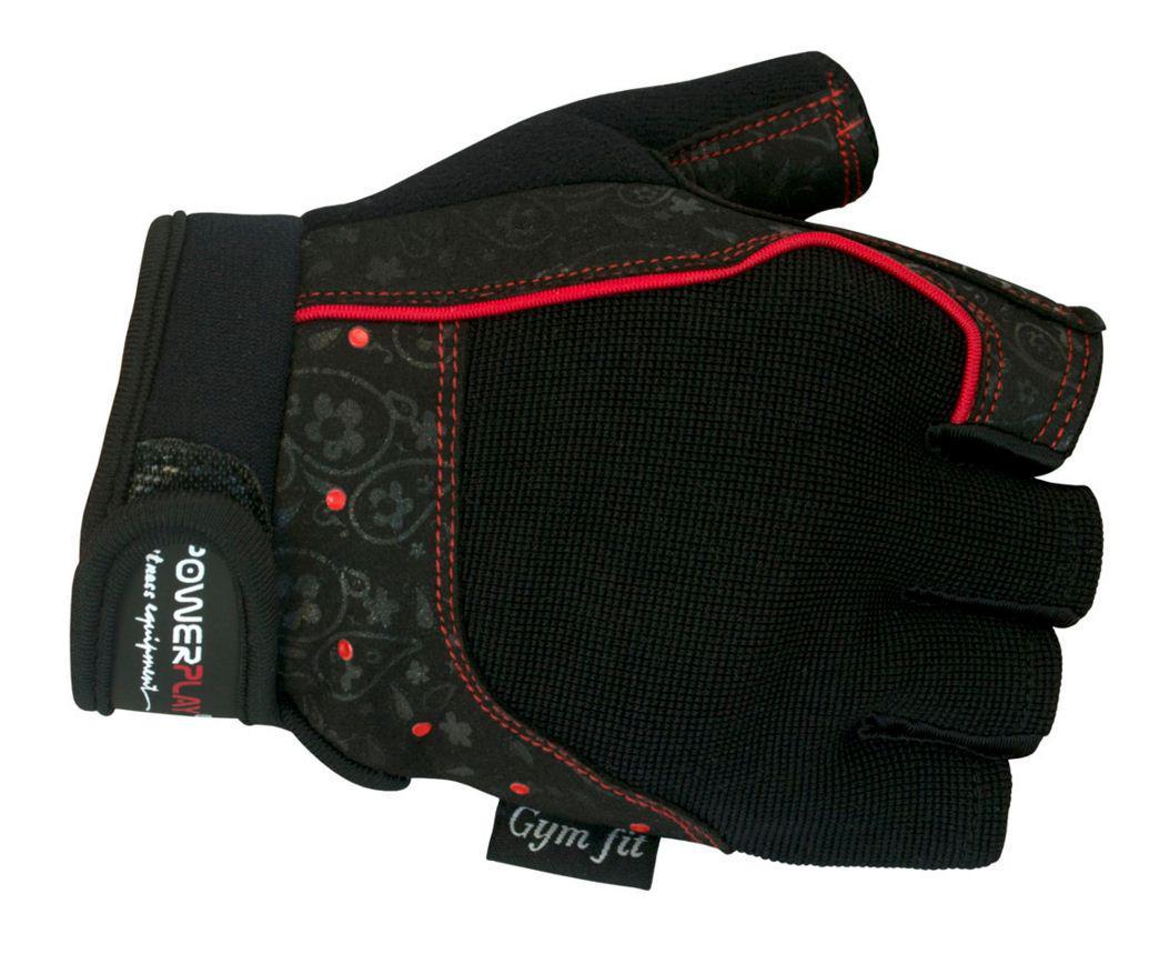 Женские перчатки  для тринажерного зала PowerPlay 1736 черные