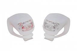 Силиконовые мигалки FT201D для велосипеда. (белый корпус)