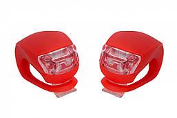 Силиконовые мигалки FT201D для велосипеда. (красный корпус)