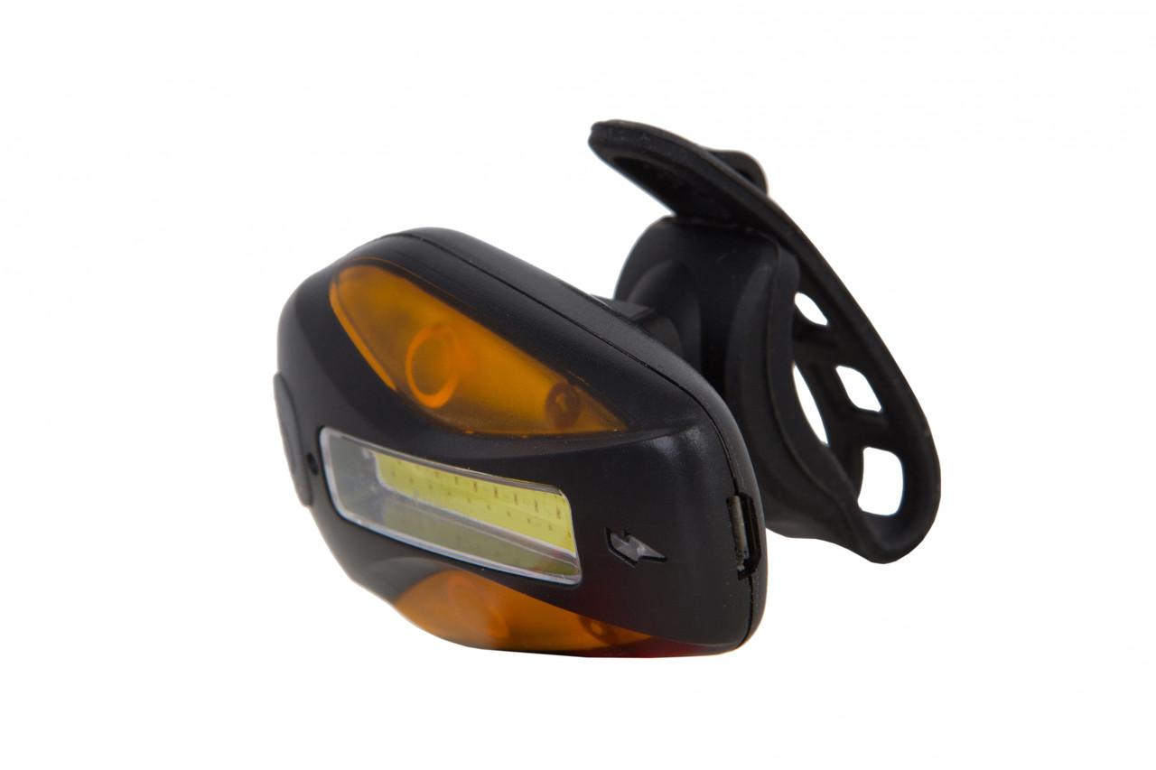Фонарь габаритный PL209R белый+красный+желтый свет 20 светодиодов, USB Pl (черный корпус)