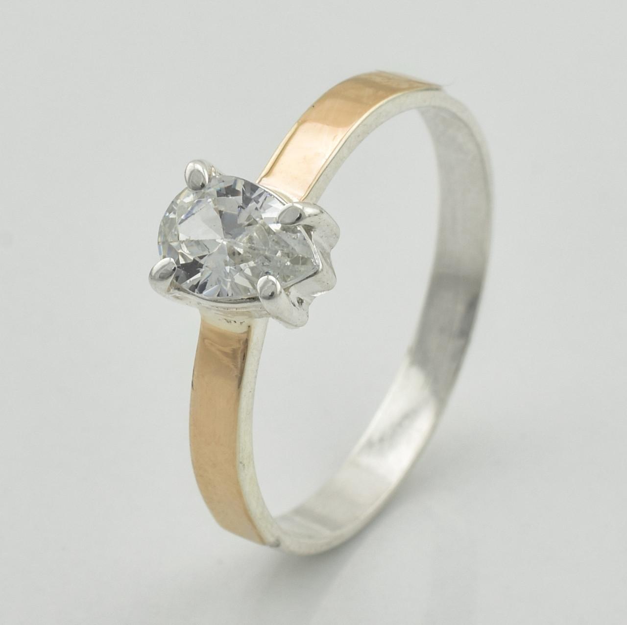 Серебряное кольцо 1277 пк, вставка белый фианит, вес 2.08 г, размер 20